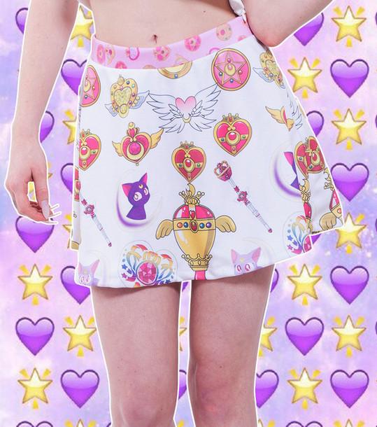 shirt sailor moon skirt sailor moon cute kawaii pretty skirt
