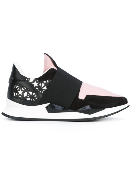 Givenchy women sneakers leather suede black shoes