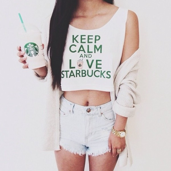 crop tops tank top crop tank top crop tanks starbucks coffee starbucks coffee starbucks coffee