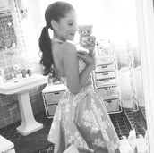 skirt,ariana grande,flowers,floral,flowered skirt