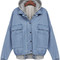 Bf denim hoodie bomber jacket – outfit made