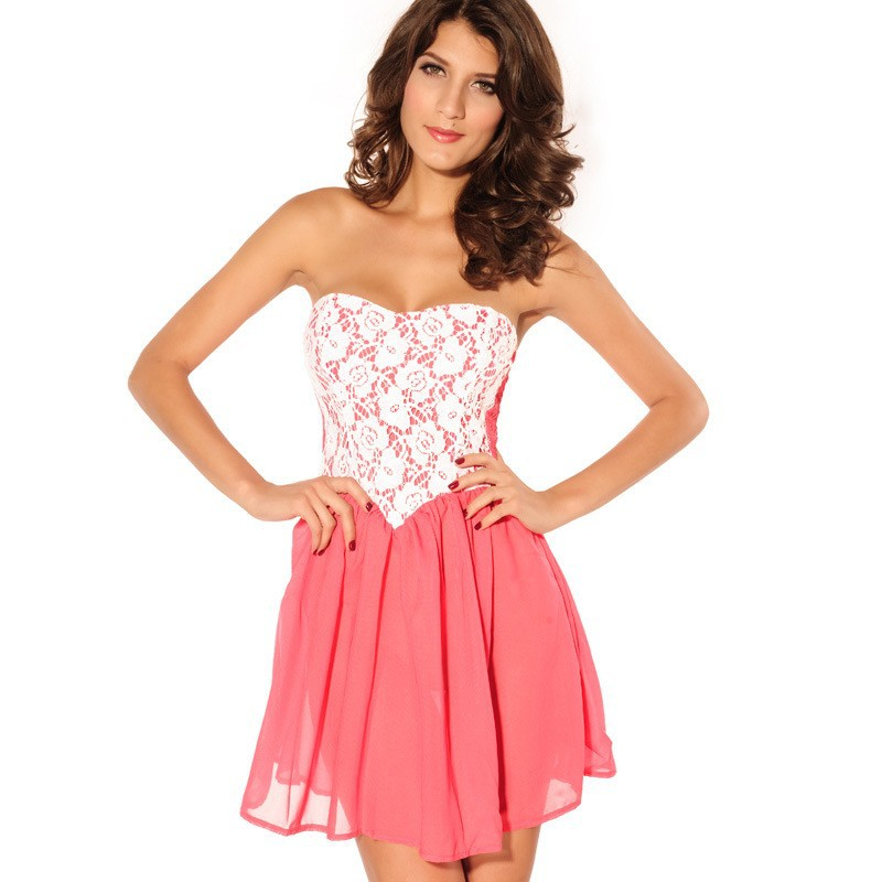 HOT sale Super sexy dress2014 new lace bandeau wrapped chest lovely dress and dress Summer dress 2603 Free shipping cost | Amazing Shoes UK