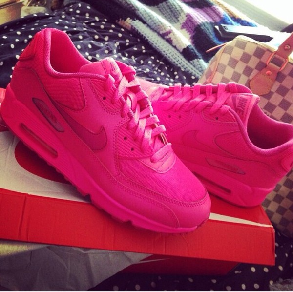 shoes hot pink air max girly nike air max 90