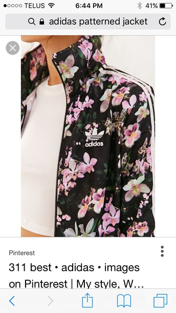 jacket clothes adidas floral
