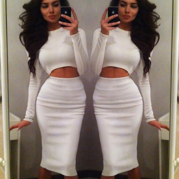 Amusing Pencil skirt and crop top outfit