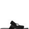 10mm embellished ponyskin slide sandals