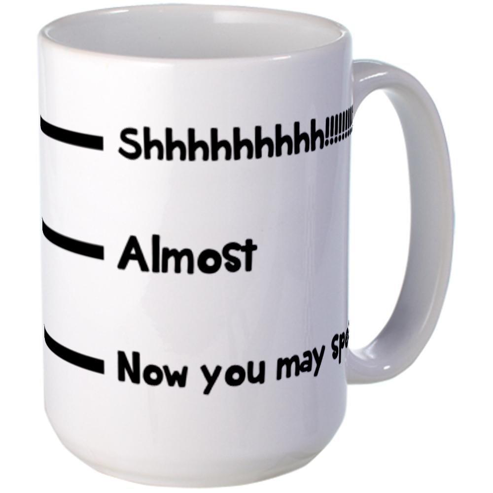 Amazon.com: CafePress Now you may speak Mugs Large Mug - Standard Multi-color: Kitchen & Dining
