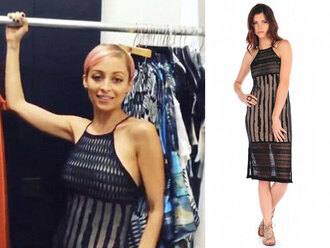 dress nicole richie sheer black dress midi dress summer dress