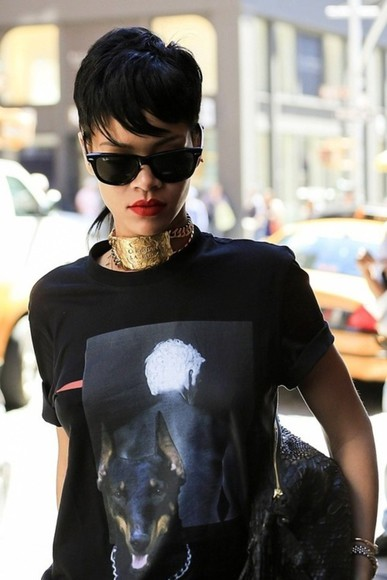 rihanna fashion shirt givenchy fashion killa baddie