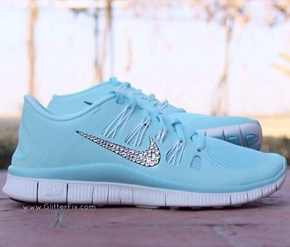 shoes nike sneakers color baby blue