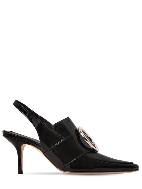 DORATEYMUR 75mm Eagle Patent Leather Pumps in black