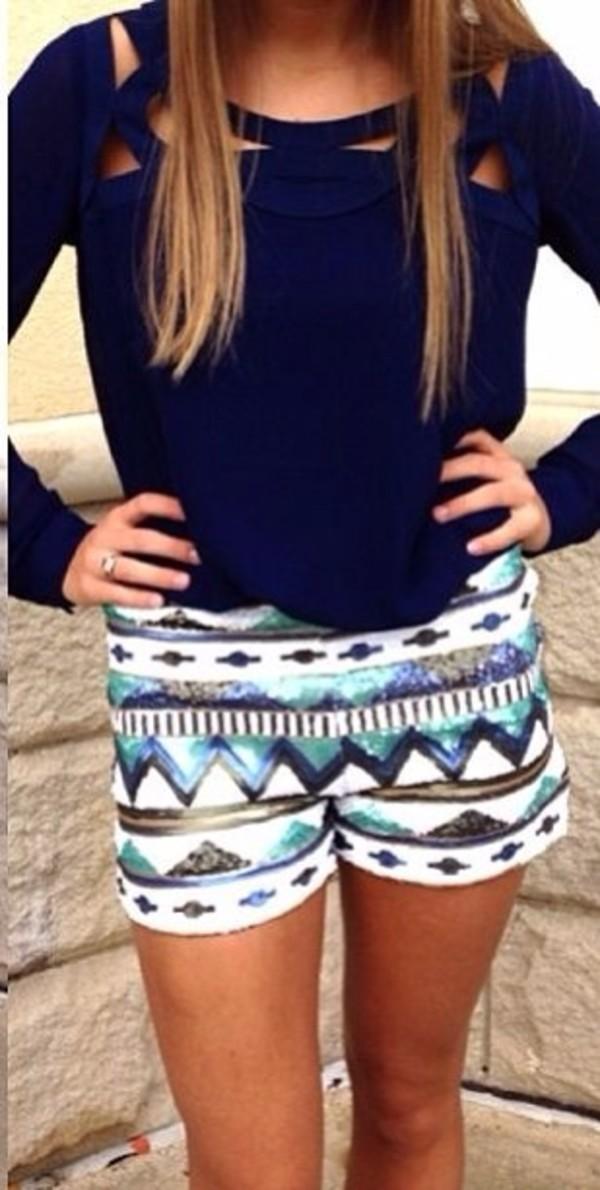 shorts aztec sparkle