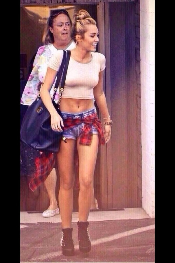 t-shirt crop tops chanel bag pants shoes bag shorts miley cyrus