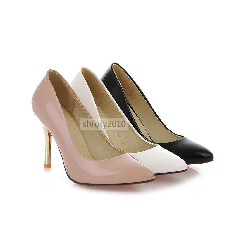 Womens Office Ladies High Stilettos Heels Pumps Classics Shoes Size Pointed Toe