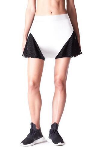 skirt active bottom michi white bikiniluxe