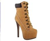 shoes,mustard,timberlands,high heels