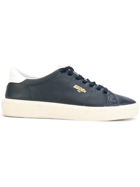 GOLDEN GOOSE DELUXE BRAND women sneakers leather cotton blue shoes