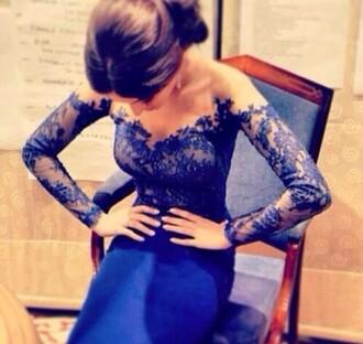 dress blue lace prom dress blue lace long dress prom matric dance homecoming dress long dress navy dress