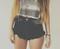 Malibu knightcat studded roller shorts