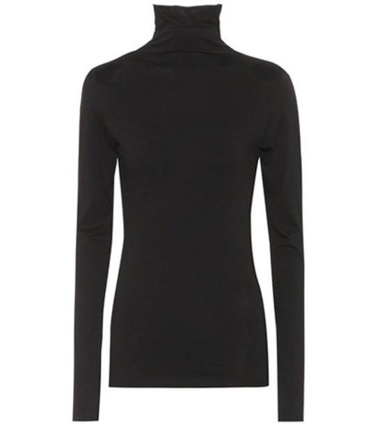 Velvet top cotton black