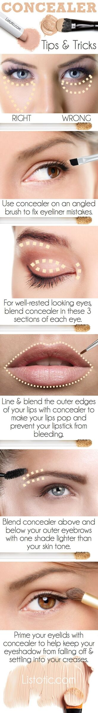 make-up concealer beauty hacks eye makeup