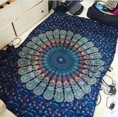home accessory,blue,mandala cover,green,sheets,indie boho,mandala,blue-green,cover,duvet,duvet cases,tapestry,boho