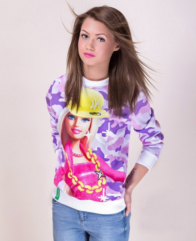 2013 New Women/Men print Barbie doll 3D Hoodies Pullovers sweaters tee Cartoon space Galaxy sweatshirts Top blouse-in Hoodies & Sweatshirts from Apparel & Accessories on Aliexpress.com