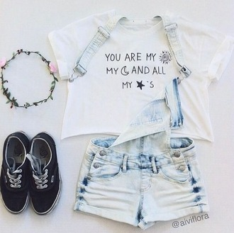 shirt top quote on it freshtops cute vintage hipster tumblr tumblr shirt tumblr outfit summer instagram indie boho bohemian chanel tees t-shirt white shirt crop tops you are my sun my moon and all ll my stars brandy melville