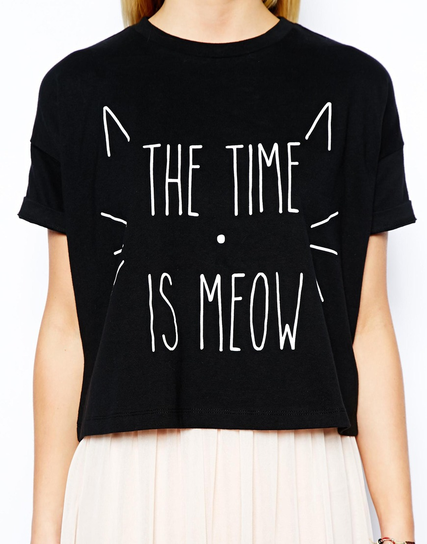 Asos petite exclusive the time is meow t