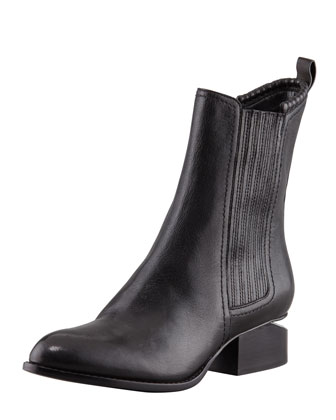 Alexander Wang Anouck Lift-Heel Chelsea Boot, Nickel - Bergdorf Goodman