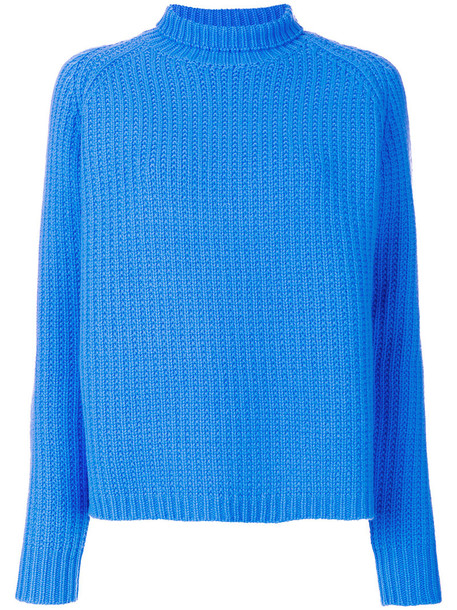 Victoria Victoria Beckham jumper women blue wool sweater