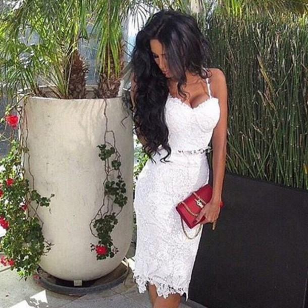 67b764df9f1c dress dress white crochet crochet dress two piece dress set lace lace dress  white lace dress