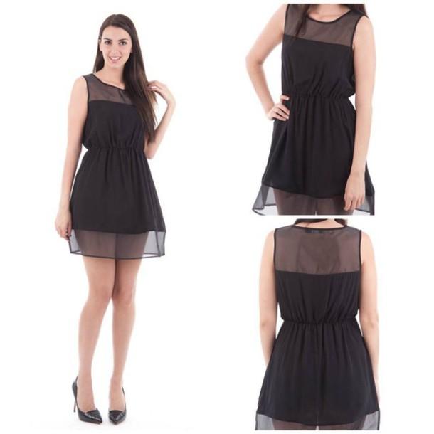 dress black black dress trasparence trasparence dress