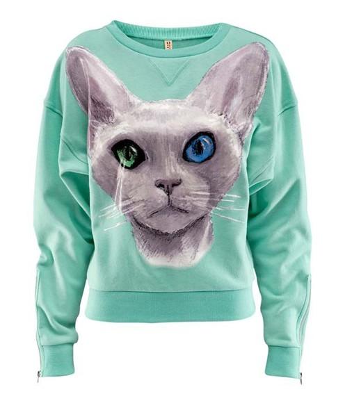 sweater cats cotton cotton sweater cat pattern