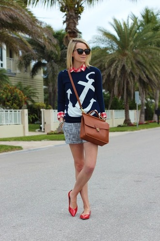 bag classy shorts swimwear anchor nautical preppy