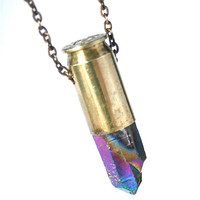 crystal bullet necklace on Wanelo