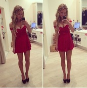 dress,red dress,boutique,cute dress,short dress,red,sweetheart dress,formal dress,party dress,bodycon dress,homecoming dress,prom dress,short party dresses,skater,off the shoulder,short,mini dress,off shoulder red dress,fashion,trendy,beautiful red dress
