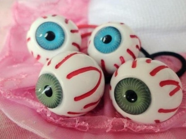 jewels eyeball hair tie pastel goth creepy halloween kreepsville goth punk alternative
