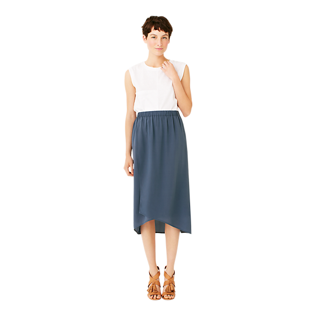 Silk Overlap Skirt - Kate Spade Saturday