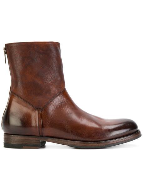 Pantanetti zip women leather black shoes