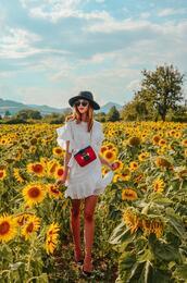 vogue haus,blogger,dress,bag,sunglasses,summer dress,summer outfits,white dress,prada bag