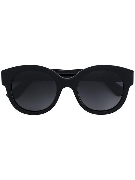 Gucci Eyewear - round oversized star detail sunglasses - women - Acetate - 51, Black, Acetate