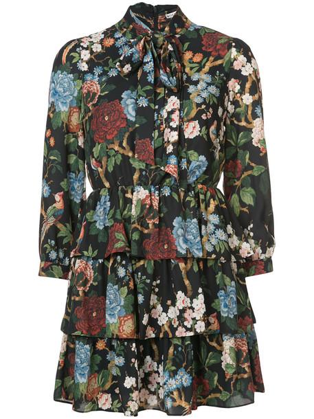 Alice+Olivia dress bow dress bow women spandex floral print