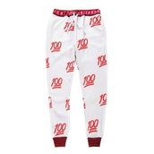 pants,emoji print,emoji pants,emoji pajamas,pajamas,pajama pants,one hundred,white pants,red patterned