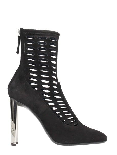 Giuseppe Zanotti boot suede black violet shoes