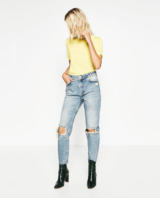 43f436a7af JEAN MOM COURT - Relaxed Fit-JEANS-FEMME | ZARA France