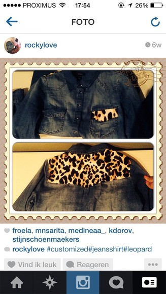 animal print customized blouse jeans leopard print