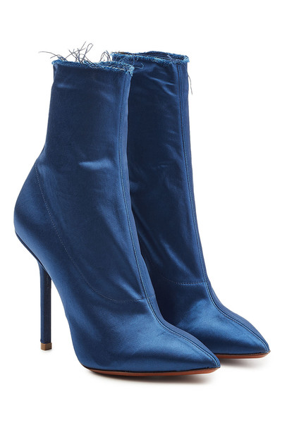 Vetements Satin Ankle Boots  in blue