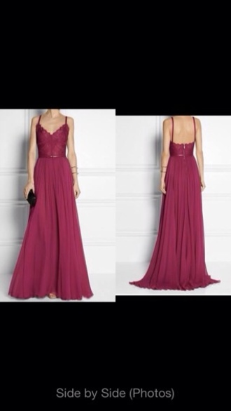 backless elie saab gown burgundy