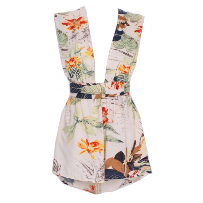 Leaves & Lilys Floral Print Playsuit